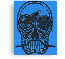 Bike Parts Skull  Canvas Print