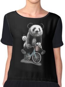 panda bike Chiffon Top