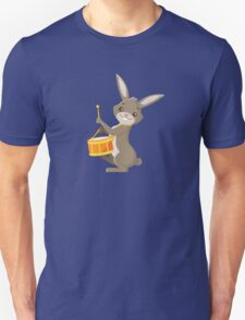 Funny cartoon rabbit playing drums T-Shirt