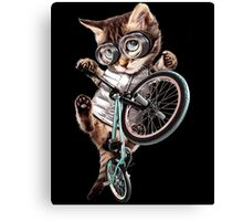 Bmx Cat Canvas Print