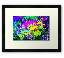 seahorse coral reef animal abstract Framed Print
