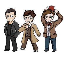 Superwholock - Doctor Who Chibis Photographic Print