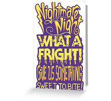 Nightmare Night! Greeting Card