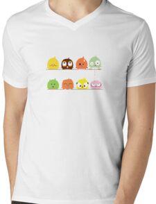 Funny cute cartoon birds Mens V-Neck T-Shirt