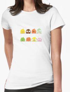 Funny cute cartoon birds Womens Fitted T-Shirt