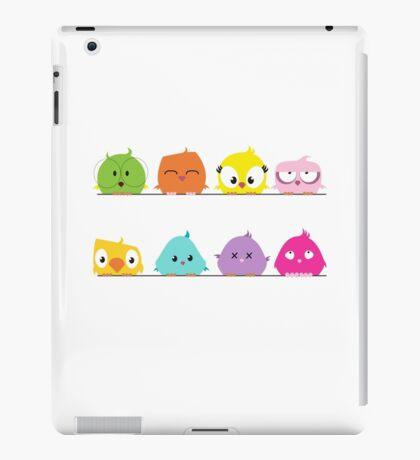 Cute funny cartoon birds iPad Case/Skin