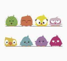 Cute funny cartoon birds Kids Clothes