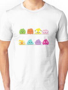 Cute funny cartoon birds Unisex T-Shirt