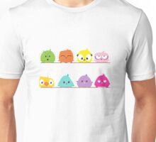 Cute funny cartoon birds Unisex T-Shirt