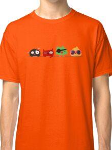 Four funny cute birds Classic T-Shirt