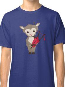 Cartoon sheep playing music with bagpipe Classic T-Shirt