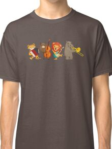 Four funny animals playing in a band Classic T-Shirt