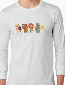 Four funny animals playing in a band Long Sleeve T-Shirt