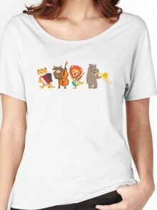 Four funny animals playing in a band Women's Relaxed Fit T-Shirt