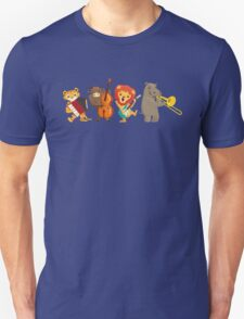 Four funny animals playing in a band T-Shirt