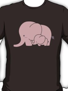 Pink elephant mother and baby T-Shirt