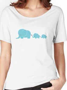 Elephant family following each other Women's Relaxed Fit T-Shirt