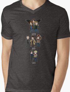Superwholock Chibis Mens V-Neck T-Shirt