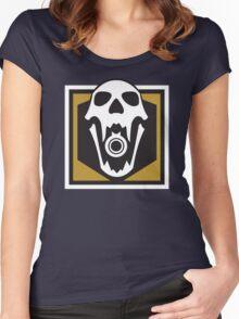 Blackbeard Operator Logo Women's Fitted Scoop T-Shirt