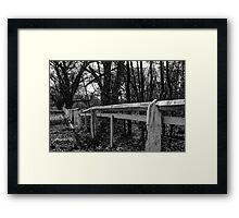 Country lane near Axedale, Victoria Framed Print