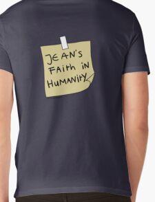 Jean's Faith in Humanity Mens V-Neck T-Shirt
