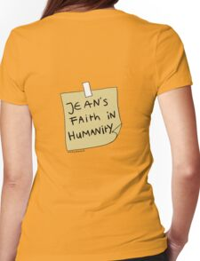 Jean's Faith in Humanity Womens Fitted T-Shirt