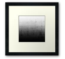 Black Ombre on Concrete Texture Framed Print