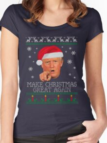 Make Christmas GREAT AGAIN Women's Fitted Scoop T-Shirt
