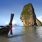 Beautiful Phra Nang Beach, Thailand by John Bullen