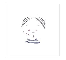 Watercolour girl portrait minimalist illustration by Marie Charrois