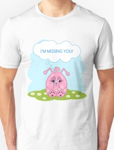 Cute pink monster is missing you T-Shirt
