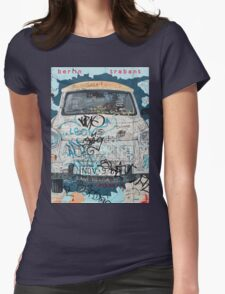 Berlin Trabant Car On The Berlin Wall Womens Fitted T-Shirt