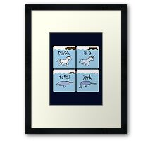 Unicorn Evolution (Noah is a jerk) Framed Print