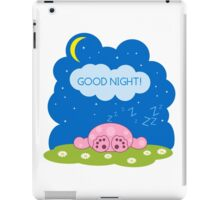 Sleeping cute pink monster iPad Case/Skin
