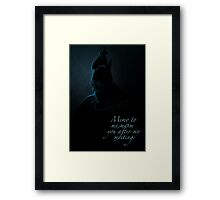 Villains inspired design (Hades). Framed Print