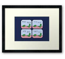 T-Rex Hates Giving Directions Framed Print