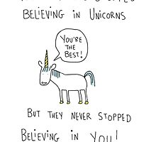 Believing in Unicorns by twisteddoodles