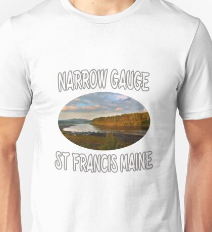 Narrow Gauge in St. Francis, Maine Unisex T-Shirt