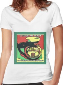MARMITE..YOU DO OR YOU DON'T  Women's Fitted V-Neck T-Shirt