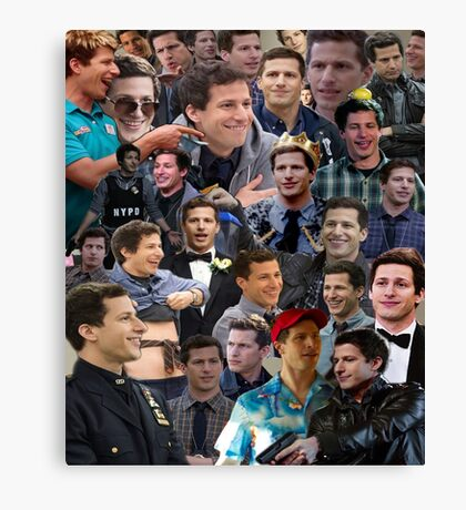 Jake Peralta Collage Canvas Print