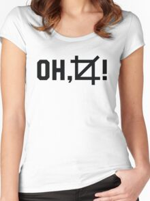 Oh, crop! Funny photographer shirt Women's Fitted Scoop T-Shirt