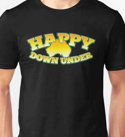 Happy DOWN UNDER (Australia) Australian map Unisex T-Shirt