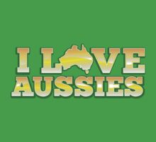 I love AUSSIES! with Australian map by jazzydevil