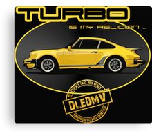 DLEDMV - Turbo is my religion Canvas Print