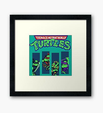 Teenage Mutant Ninja Turtles (NES) Framed Print