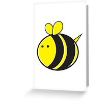 Cute little bumble fat bee Greeting Card