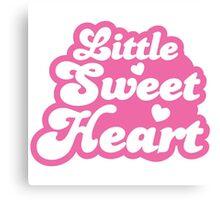 Little SWEET HEART! in cute pink Canvas Print