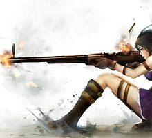 Caitlyn The Sheriff Of Piltover (League of Legends) by justcastWAUDBY