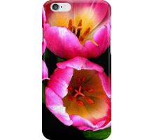 Bunch of pink tulips iPhone Case/Skin