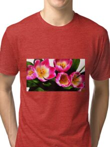 Bunch of pink tulips Tri-blend T-Shirt